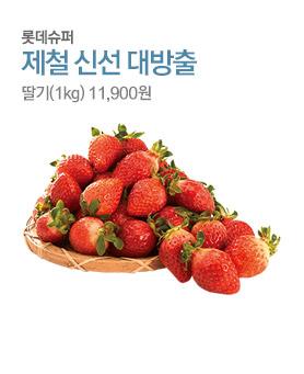 롯데슈퍼 제철 신선 대방출 딸기(1kg) 11,900원 배너이미지
