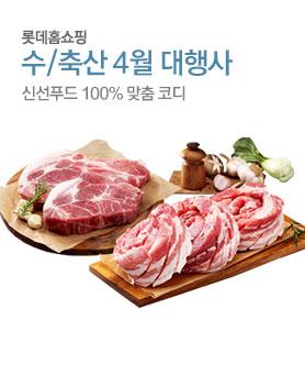 수/축산 4월대행사 신선푸드100% 맞춤 코디 배너이미지